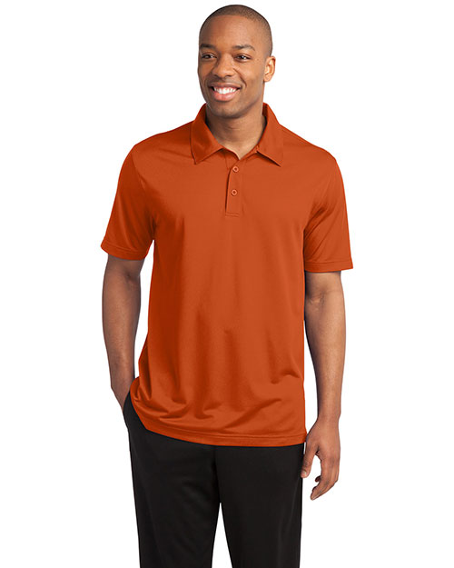 Sport-Tek ST690 Men Posicharge Active Textured Polo Deep Orange at bigntallapparel