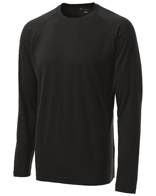 Sport-Tek ST700LS Men Long Sleeve Ultimate Performance Crew Black at bigntallapparel