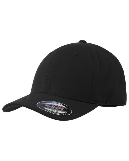 Sport-Tek STC17  Flexfit Performance Solid Cap Black at bigntallapparel
