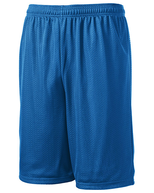 Sport-Tek T515 Men Long Mesh Shorts Royal at bigntallapparel