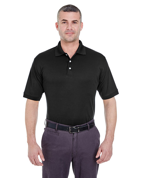 Ultraclub 8315 Men Platinum Performance Pique Polo With Tempcontrol Technology Black at bigntallapparel