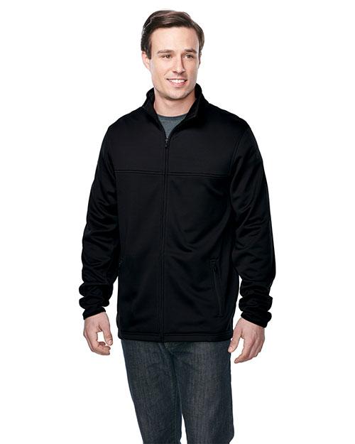 Tri-Mountain F7260 Men 100% Polyester Full Zip Jacket Black at bigntallapparel