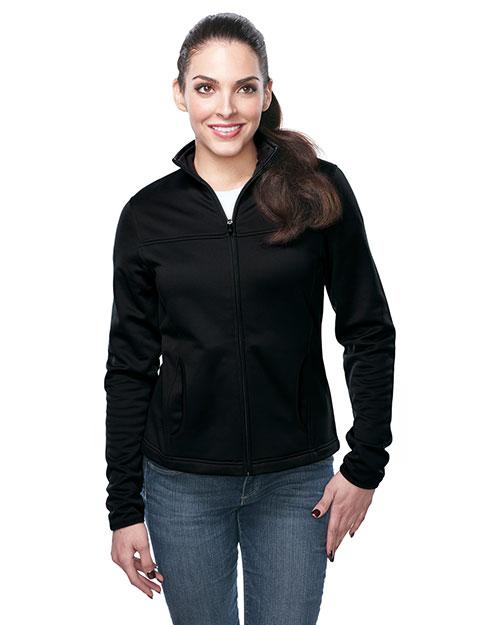 Tri-Mountain FL7260 Women 100% Polyester Full Zip Jacket Black at bigntallapparel