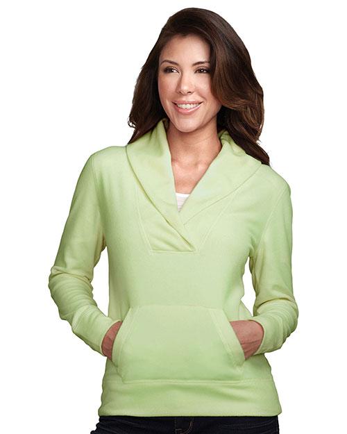 Tri-Mountain FL7270 Women 100% Polyester Long Sleeve Shawl Collar Pullover Apple at bigntallapparel