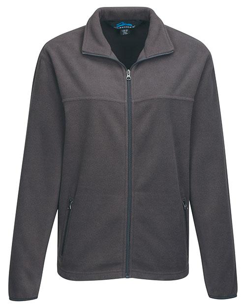 Tri-Mountain FY7608 Men 100% Polyester Fleece Jacket Charcoal at bigntallapparel