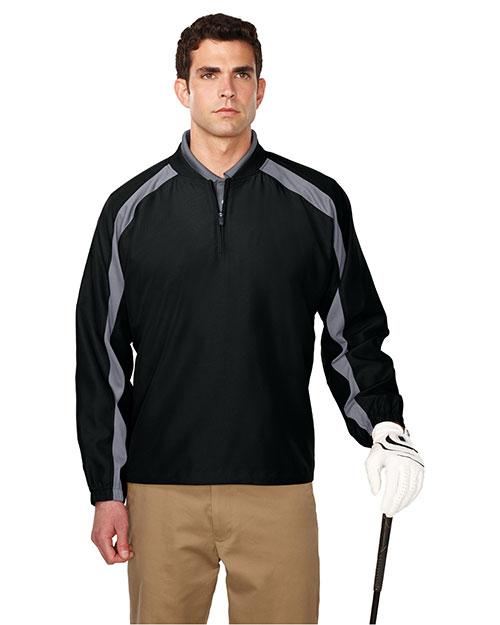 Tri-Mountain J2547 Men 100% Micro Plyester 1/4 Zip Wind Shirt Black/Gray at bigntallapparel