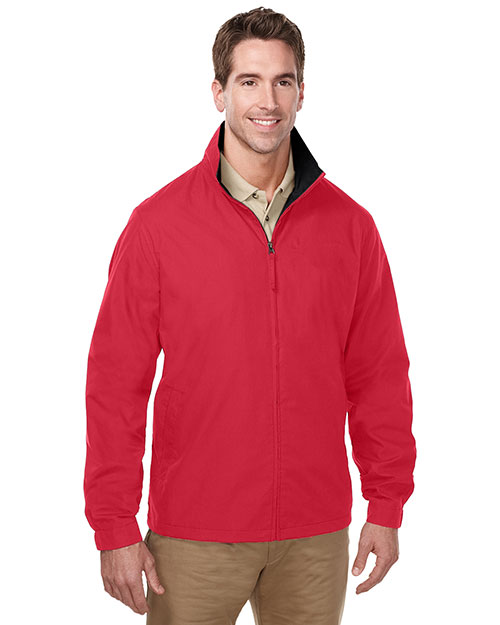Tri-Mountain J5308 Men Lightweight Jacket Features A Windproof/Water Resistant Shell Of 65% Polyester/35% Cotton Red/Black at bigntallapparel