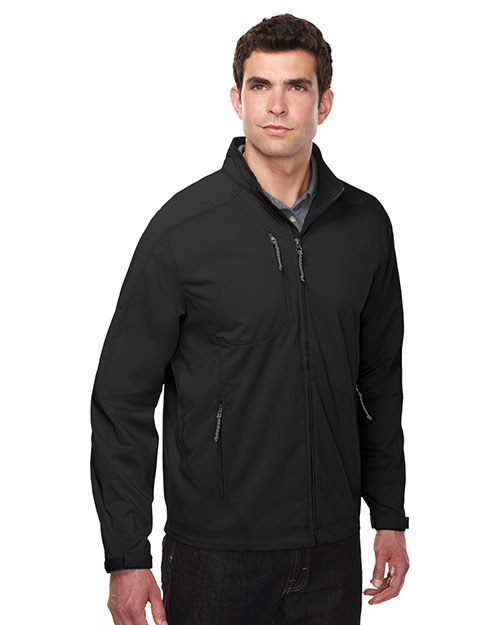 Tri-Mountain J6205 Men 96% Polyester 4% Spandex Dobby Full Zip Jacket Black at bigntallapparel