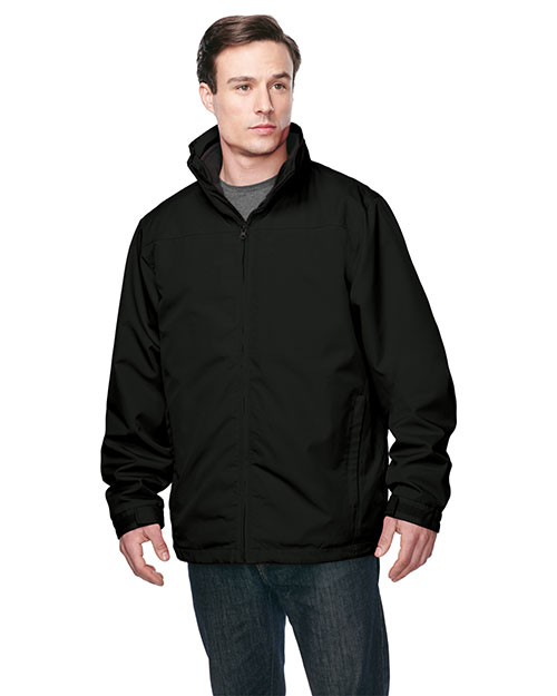 Tri-Mountain J8885 Men 3 In 1 Jacket, Inner With Zipped Out Poly Fleece Jacket Black/Black at bigntallapparel