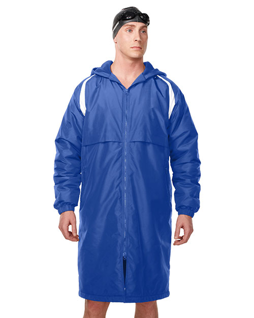 Tri-Mountain J9950 Men 100% Nylon Taslon Coat With Poly Fleece Lining Imperial Blue/White at bigntallapparel