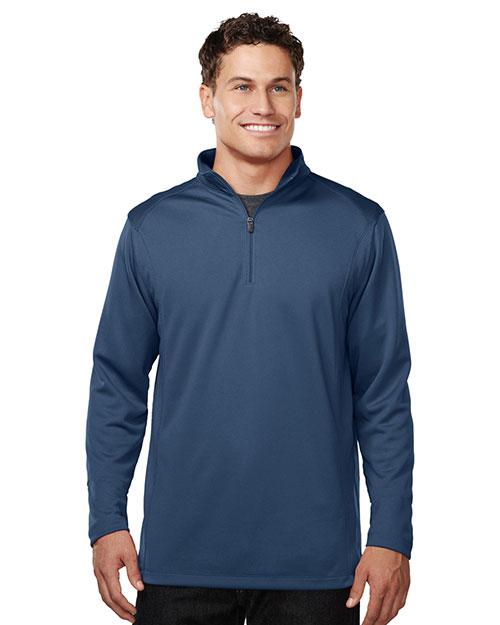 Tri-Mountain K628 Men 100% Polyester 1/4 Zip Pullover W/Tmp Puller Atlantic at bigntallapparel