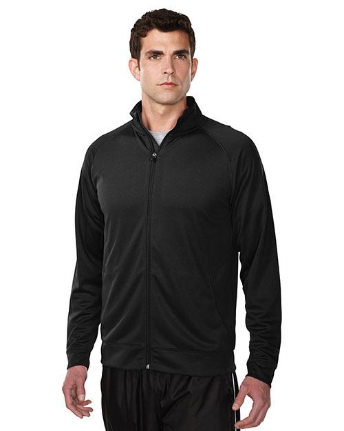Tri-Mountain K630 Men 100% Polyester Knit Full Zip Jacket Black at bigntallapparel