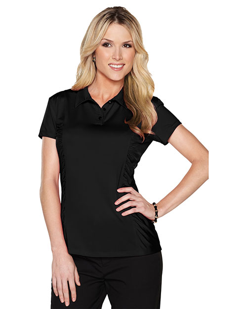 Tri-Mountain LB027 Women 85% Polyester 15%spandex Knit Shirt Black at bigntallapparel