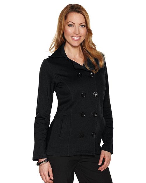 Tri-Mountain LB677 Women 10.4 Oz 60% Cotton/40% Polyester Fleece Peacoat Black at bigntallapparel