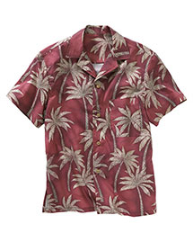 Edwards 1034 Men  Tropical Palm Camp Shirt at bigntallapparel