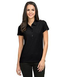 Tri-Mountain 103 Women Poly Ultracool Waffle Knit Golf Shirt at bigntallapparel