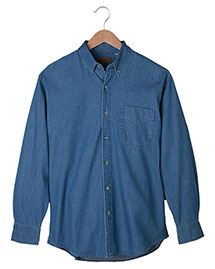 Edwards 1093 Men Mid-Weight Long Sleeve Denim Shirt