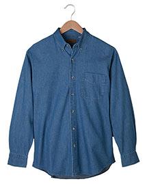Edwards 1093 Men Mid-Weight Long Sleeve Denim Shirt at bigntallapparel