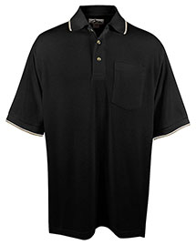 Tri-Mountain 117 Men Big And Tall Ultracool Mesh Pocketed Polo Golf Shirt