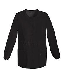 Cherokee 1304 Women Snap Front Warmup Jacket at bigntallapparel