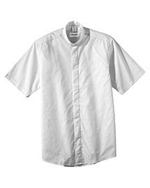 Edwards 1346 Women Short Sleeve Banded Collar Shirt at bigntallapparel