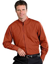 Edwards 1396 Men Long Sleeve Banded Collar Shirt at bigntallapparel
