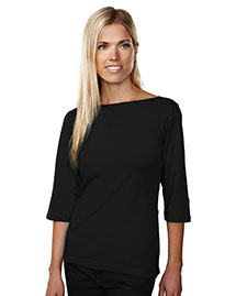 Tri-Mountain 139 Women Cotton/Poly 60/40 Knit Top, W/ 3/4 Sleeve