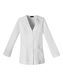Cherokee 1403 Women Button Front Embroidered Jacket at bigntallapparel