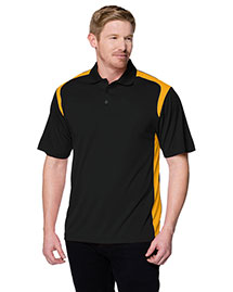 Tri-Mountain 145 Men 100% Polyester Uc Knit Polo Shirt at bigntallapparel