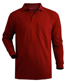 Edwards 1525 Men  Long Sleeve Pique Polo With Pockets