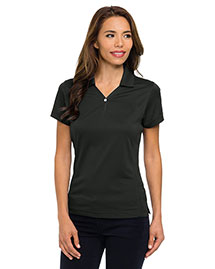 Tri-Mountain 156 Women Poly Ultracool Pique Y-Neck Golf Shirt