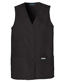 Cherokee 1602 Women Button Front Vest at bigntallapparel