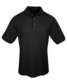 Tri-Mountain 169 Men Cotton Pique Pocketed Golf Shirt at bigntallapparel