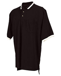Tri-Mountain 179 Men Big And Tall Pique Pocketed Polo Golf Shirt With Trim at bigntallapparel