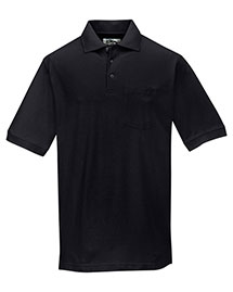 Tri-Mountain 189 Men Baby Pique Pocketed Polo Golf Shirt at bigntallapparel