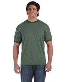 Authentic Pigment 1937 Men  6 Oz. Direct-Dyed Heather Ringer T-Shirt at bigntallapparel