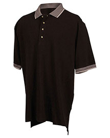 Tri-Mountain 196 Men Big And Tall Pique Polo Golf Shirt With Jacquard Trim at bigntallapparel
