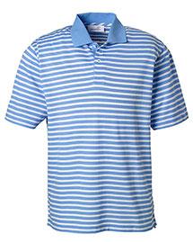 Ashworth 2048 Men Dual Tone Pique Stripe Polo at bigntallapparel