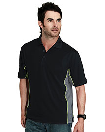 Tri-Mountain 226 Men 100% Polyester Tmr Knit Polo Shirt, W/ Rib Collar at bigntallapparel