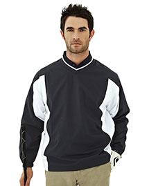 Tri-Mountain 2550 Men 100% Polyester  Micro V Neck Long Sleeve Wind Shirt at bigntallapparel