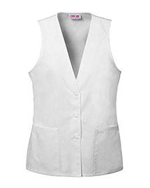 Cherokee 2610 Women Lace Trimmed Vest at bigntallapparel