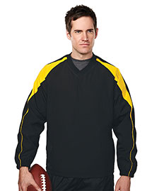 Tri-Mountain 2630 Men 100% Polyester  V-Neck Long Sleeve Wind Shirt With Water Resistent at bigntallapparel