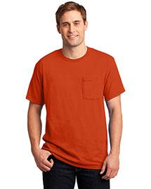 Jerzees 29MP Men  50/50 Cotton/Poly Pocket T Shirt at bigntallapparel