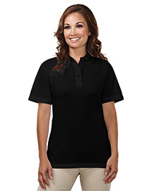 Tri-Mountain 302 Women 60/40 Easy Care Knit Shirt With Snap Closure. Ideal Cook