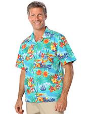 Blue Generation BG3103 Men Tropical Print Campshirt  -  Tropic Print 2 Extra Large Print at bigntallapparel