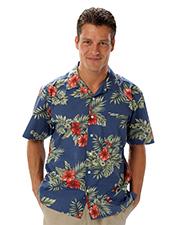 Blue Generation BG3105 Men Tropical Print Campshirt  -  Floral Print 2 Extra Large Print