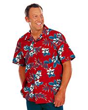 Blue Generation BG3106 Men Tropical Print Campshirt  -  Hibiscus Print 2 Extra Large Print at bigntallapparel