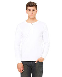 Canvas 3150 Men 4.2 Oz. Long-Sleeve Henley at bigntallapparel