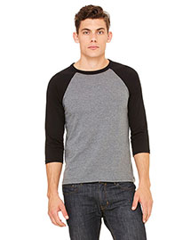 Bella 3200 Men  3/4-Sleeve Baseball T-Shirt at bigntallapparel