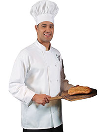 Edwards 3302 Men Classic 10 Knot Button Chef Coat